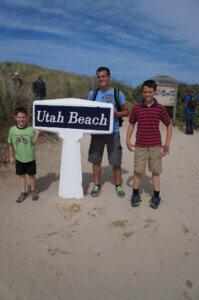 Boys at Utah Beach
