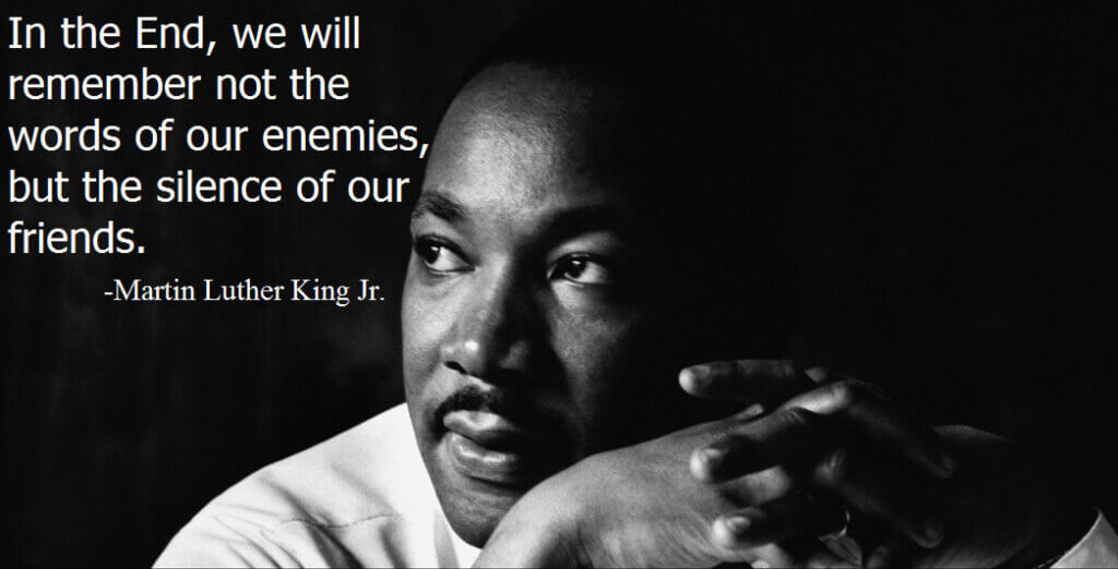 MLK friends quote about racism