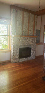 Fireplace in front room