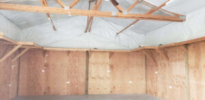 interior of red barn