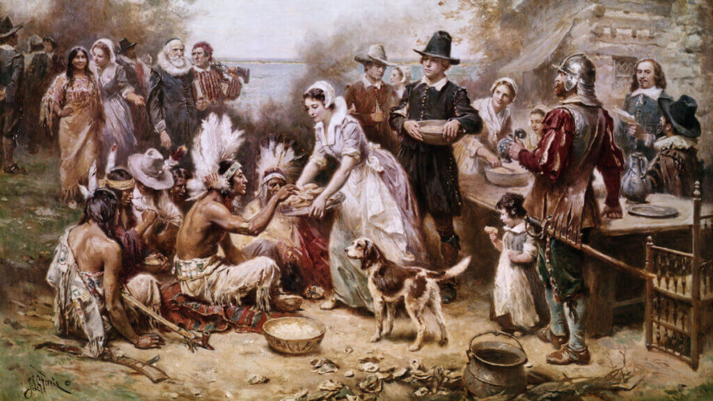 Pilgrims at Thanksgiving did not go home
