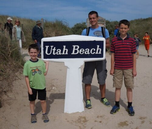 Military kids at Utah Beach
